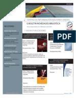 Boletín Novedades Bibliográficas CINU Bogotá