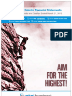Quarterly Reports Mar 2012