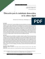 Educación ciudadanía democrática cultura digital