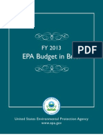 EPA Budget in Brief - FY 2013