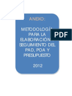 Metodologia Pad Poa Ppto 2012