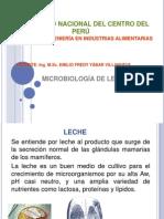 MICROBIOLOGÍA DE LECHE