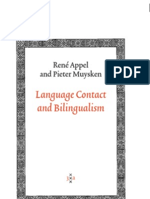 Language Contact and Bilingualism  Book | Multilingualism