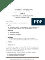 Agenda 22  (06-06-2012)-1 Comisión de Trabajo y Seguridad Social
