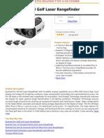 Bushnell Pro 1M Golf Laser Rangefinder