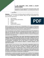 Compensation Mgt -Job Evaluation