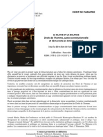 Le glaive et la balance Droits de l'homme, justice constitutionnelle et démocratie en Amérique latine (book presentation)