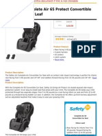Safety 1st Complete Air 65 Protect Convertible Car Seat, Silver Leaf