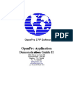 OpenPro Application Demonstration Guide2