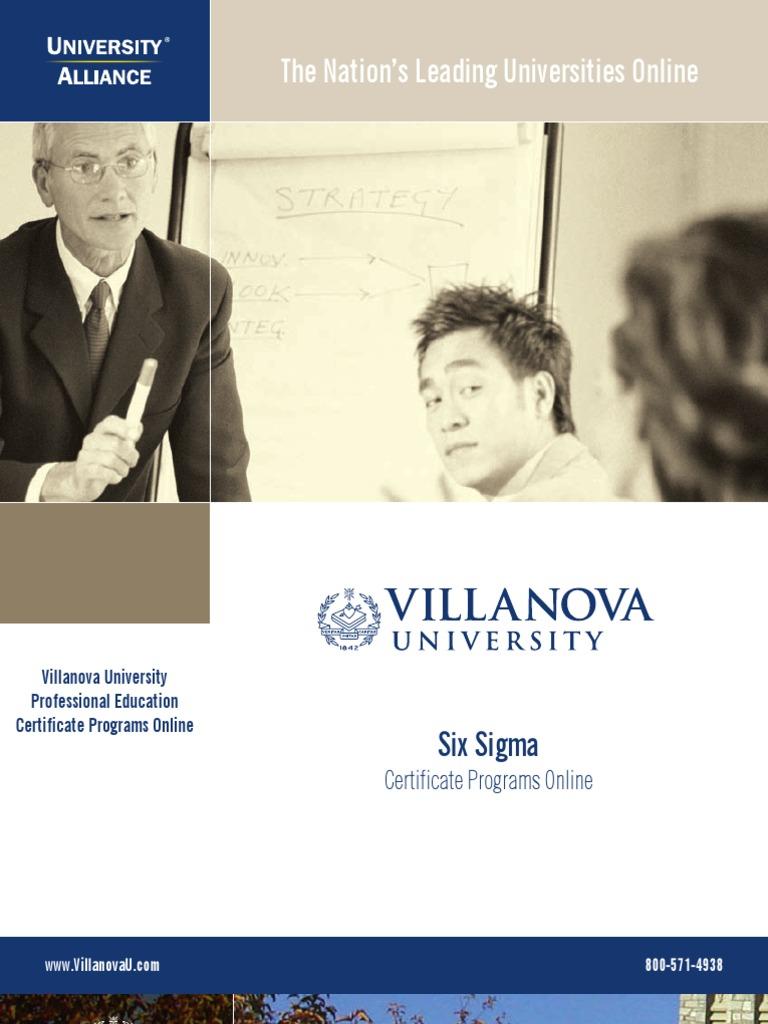 Villanova 6sigma T2 Six Sigma Design For Six Sigma