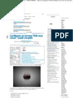 CONFIGURER UN SERVEUR WEB SOUS LINUX – GUIDE COMPLET