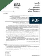 Prova 3 Vestibular UFSM 2007