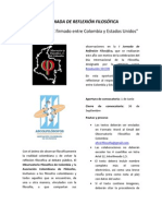 I Jornada de Reflexión filosófica - Ofcol.Filosofía