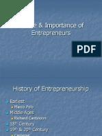 Nature & Importance of Entrepreneurs