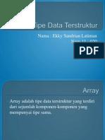 Tipe Data Terstruktur
