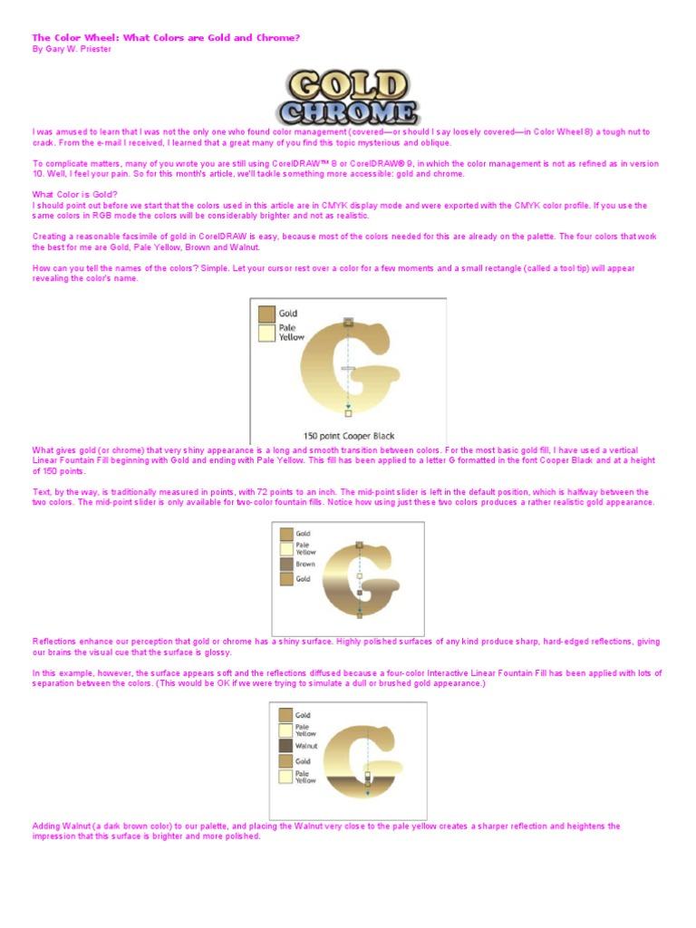 Corel Draw Tips2 | Magenta | Color
