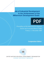 The Role of Industrial Development in Achievement of MDGs