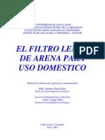 El Filtro de Arena Domestico by Abelardo Prada Matiz