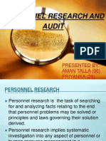 HR Research & Audit PPT