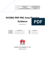 3.WCDMA RNP RNC Area Planning Guidance-20040716-A-1.1