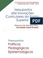 Pressupostos dos Bacharelados Interdisciplinares UFABC 2012