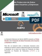 Estudio - Protección de Datos Personales entre Usuario y Empresas