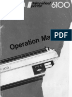 Juki 6100 Operation Manual Sep83