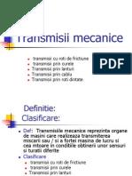 Transmisii Mecanice( Roti Frictiune, Curele, Lant, Cablu, Roti Dintate)