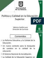POLÍTICA-CALIDAD ED SUP Mónica Castilla