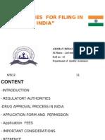 Filing in India