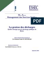 La gestion des décharges publiques. gestion de la décharge de Rabat
