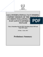 Iaea International Fact Findingexpert Mission of the Nuclearaccident Following the Greateast Japan Earthquake Andtsunami