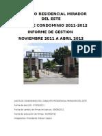 Informe de Gestion Noviembre 2011 Abril 2012