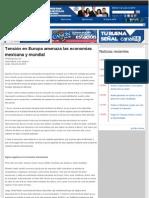 04-05-12 Tensión en Europa amenaza las economías mexicana y mundial