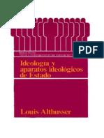 Althusser, Ideología y Aparatos ideológicos del Estado