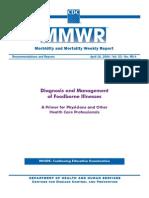 Diagnóstico e Gestão de doenças transmitidas por alimentos
