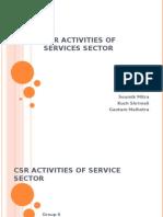 CSR Activities of Service Sector