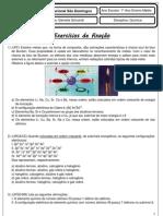 Exercícios de fixação sobre a Tabela Periódica - 1ºano