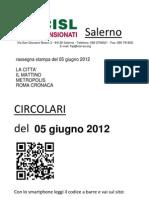 Rassegna Stampa Del 5 Giugno 2012