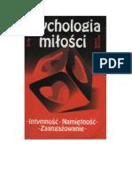 Bogdan Wojciszke - Psychologia Milosci