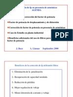 Correccion de Fp en Presencia de Armonicos