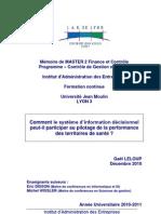 Comment le système d'information décisionnel peut-il participer au pilotage de la performance des territoires de santé
