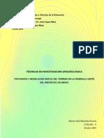 Topografia y Modelacion Digital Del Terreno en La Peninsula Oeste Del Rincon de Los Indios Oct