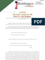 Siglo XX - Martín Heidegger - Heráclito, fragmento 50 Logos