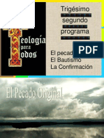 01610000 32do El Pecado Original El Bautismo La Confirmacion