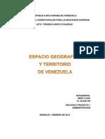 Espacio Geografico y Territorio Venezolano