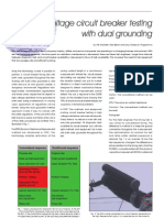 Circuit Breaker - HV Circuit Breaker Testing With Dual Grounding