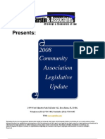 2008 Florida Community Association Legislative Update