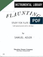 Adler Flaunting for Flute Solo