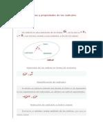 Fórmulas y propiedades de los radicales